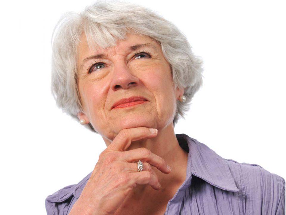 רותם חיתולים למבוגרים אישה חושבת